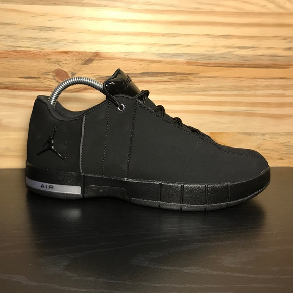 857bc68fc0beb8 New Nike Air Jordan Team Elite 2 Low Triple Black